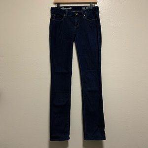 Madewell dark wash rail straight women's jeans